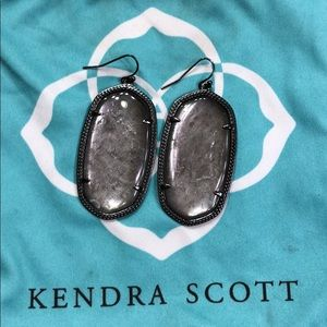 Gunmetal Reversible Danielle Earrings